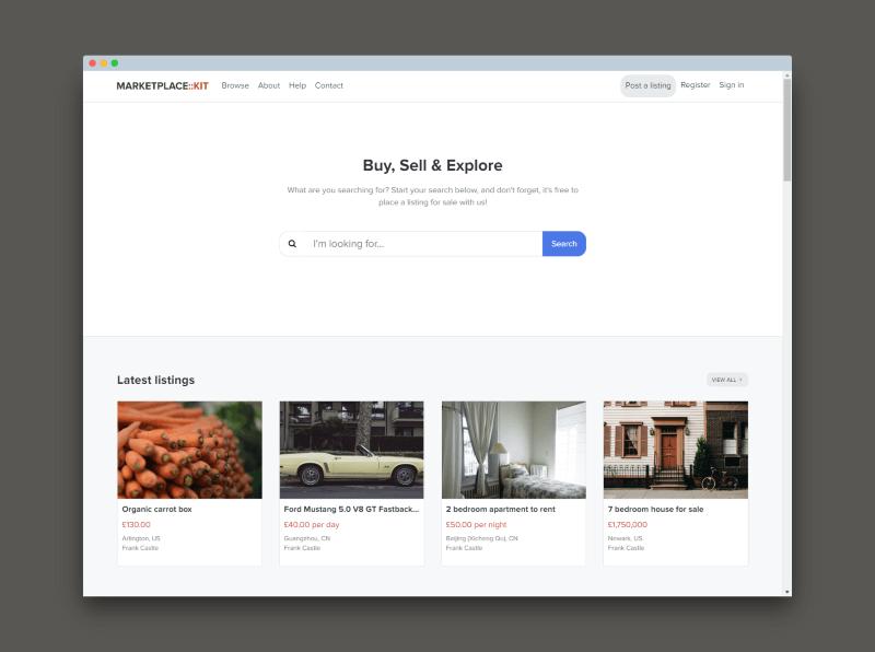 Marketplace Novum theme